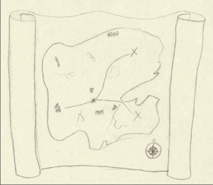 Treasure map- it's good to have direction to get started