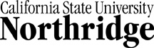 The Official Logo of California State University Northridge
